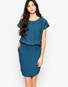 Однотонное платье Y.A.S Birch - Сине-зеленый