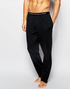 Хлопковые штаны для дома классического кроя Tommy Hilfiger Icon - Черный