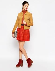 Короткая тканая юбка Manoush Galaxy - Rouge