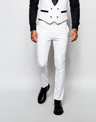 Зауженные брюки под смокинг Religion - Белый