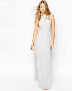 Платье макси с отделкой Needle & Thread - Porcelain blue