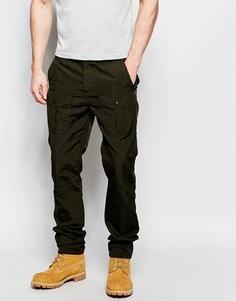 Прямые нейлоновые брюки карго цвета хаки ASOS - Хаки