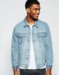 Джинсовая куртка слим ASOS - Синий