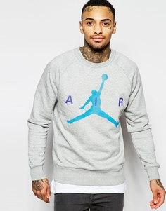 Свитшот с графическим принтом Nike Jordan 689014-064 - Серый