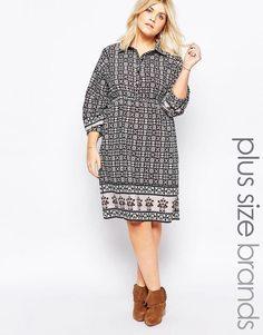 Платье-рубашка с принтом Diya Plus