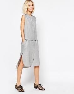 Платье-рубашка без рукавов Paisie - Светло-серый