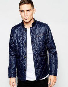 Синяя стеганая куртка из нейлона G-Star - Saru blue (синий)