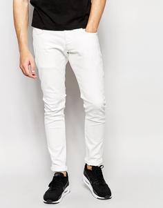 Белые суперстретчевые джинсы слим G‑Star BeRAW эксклюзивно для Asos Jeans 3301‑A - Белый Inza