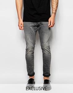 Серые суперзауженные джинсы G-Star BeRAW эксклюзивно для Asos Jeans 3301-A - Серый Slander