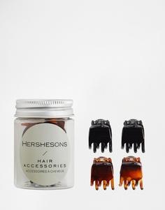 Заколки для волос Hershesons - Черно-коричневый