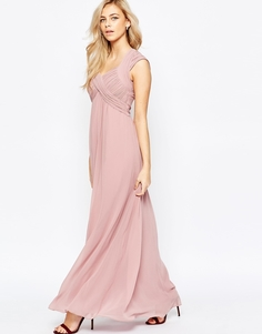 Платье макси с завышенной талией Little Mistress - Розовый