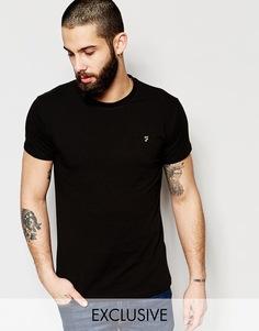 Эластичная футболка эксклюзивно для Farah - Черный