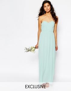 Шифоновое платье‑бандо макси TFNC WEDDING - Morning mist