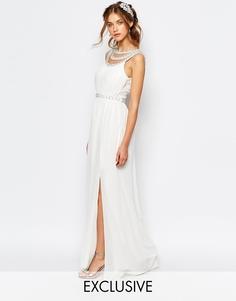 Свадебное платье макси с отделкой TFNC - Белый