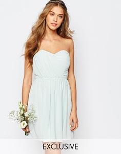 Шифоновое платье‑бандо мини TFNC WEDDING - Morning mist