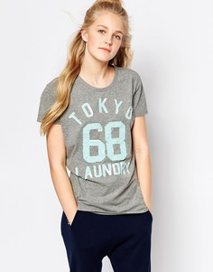 Футболка с короткими рукавами и логотипом Tokyo Laundry - Умеренный серый меланж