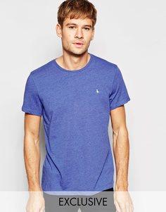 Эксклюзивная синяя меланжевая футболка с логотипом-фазаном Jack Wills - Синий меланж