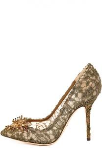 Золотистые Туфли Dolce & Gabbana