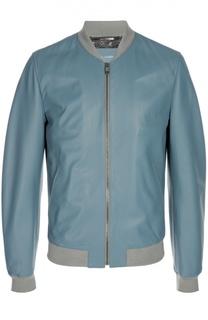 Куртка-бомбер кожаная Dolce & Gabbana