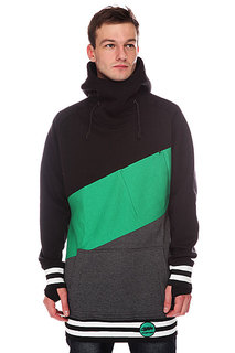 Толстовка сноубордическая Shweyka Exception Black/Green/Grey