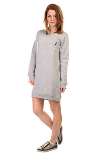 Платье женское Emblem Pocket Sleeve Dress Heather Grey
