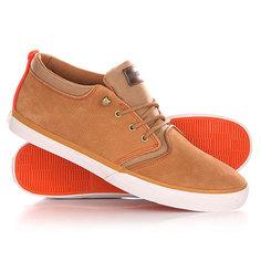 Кеды кроссовки высокие Quiksilver Griffin Fg Brown/Orange