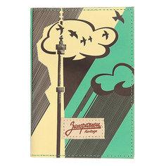Обложка на паспорт Запорожец Башня Зеленый
