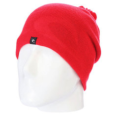 Шапка с помпоном Rip Curl Ultimate Cham Beannie Fluro Red