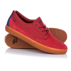 Кеды кроссовки низкие Quiksilver Beacon Red/Blue