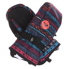 Варежки сноубордические детские Roxy Jetty Girl Mitt Geo Stripe