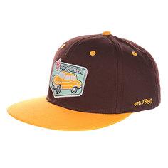 Бейсболка с прямым козырьком Запорожец Авто Снэп Brown/Yellow