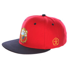 Бейсболка с прямым козырьком Запорожец Крым Спорт Снэп Red/Royal