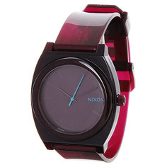 Часы Nixon Time Teller P Translucent Burgundy
