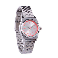 Часы женские Nixon Small Time Teller Silver/Neon Pink