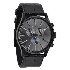 Часы Nixon Sentry Chrono Leather Black Gator