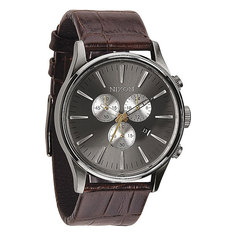 Часы Nixon Sentry Chrono Leather Brown Gator