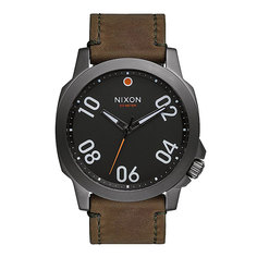 Часы Nixon Ranger 45 Leather Gunmetal/Surplus