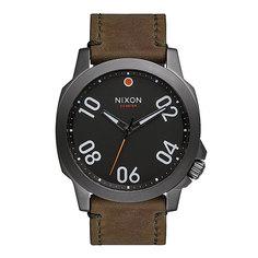 Часы Nixon Ranger 45 Leather Gunmetal/Surplus