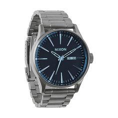 Часы Nixon Sentry Ss Gunmetal/Blue Crystal