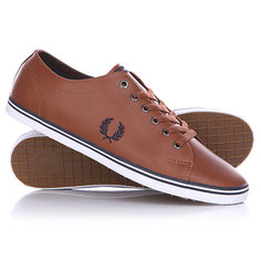 Кеды кроссовки низкие Fred Perry Kingston Leather Brown