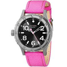 Часы женские Nixon 38-20 Leather Black/Hot Pink
