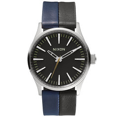 Часы Nixon Sentry 38 Leather Black/Navy/Black