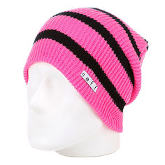 Шапка носок женская Neff Daily Stripe Pink/Black