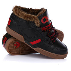 Зимние кеды Osiris Nyc 83 Mid Shr Black/Red/Gum