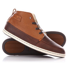 Зимние кеды Hub Subway Perf Sneak Dark Brown/Cognac/White