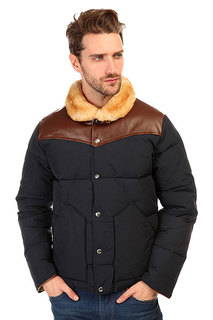 Пуховик Penfield Rockwool Leather Yoke Down Jacke Navy