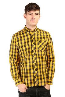 Рубашка в клетку Fred Perry Tartan Shirt Yellow