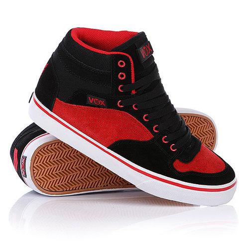 Кеды кроссовки высокие Vox Accent Black/Red