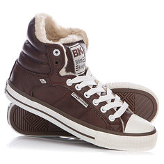 Зимние кеды женские British Knights Atoll Dark Brown/White
