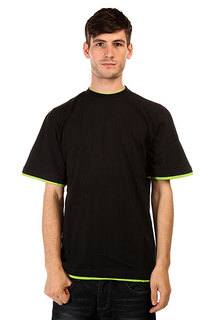 Футболка Urban Classics Contrast Tall Black Lime Green